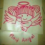 สติ๊กเกอร์ใสติดกระจก Tiny Angel